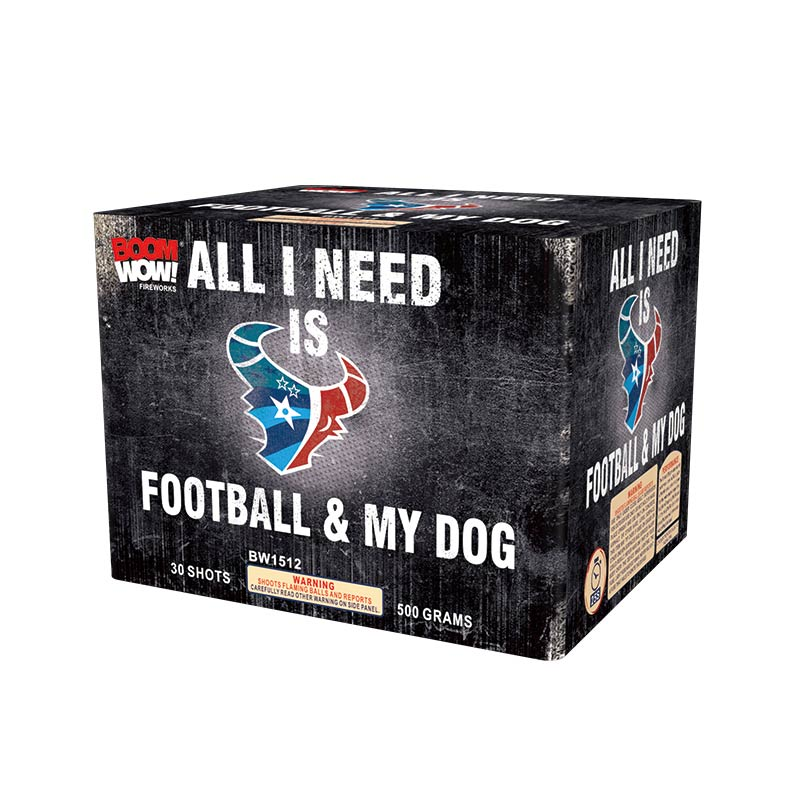 BW1512 - All I Need Is Football And My Dog 30 Shot