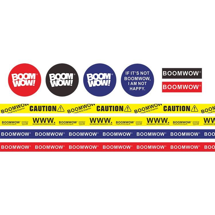 Boomwow luggage car bike skateboard guitar travel case sticker