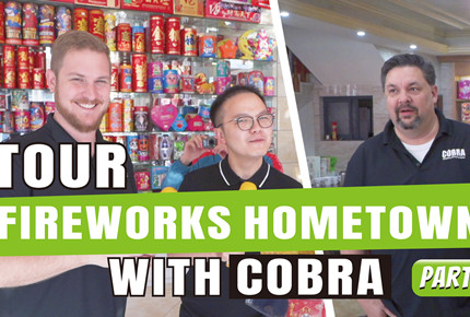 Tour fireworks hometown with Chris & Joel from Cobra firing system