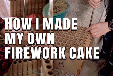 How I made my own firework cake? Step by step.