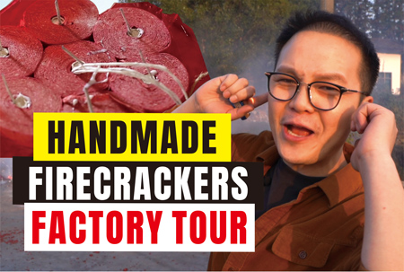 Chinese celebration firecrackers factory tour 2020